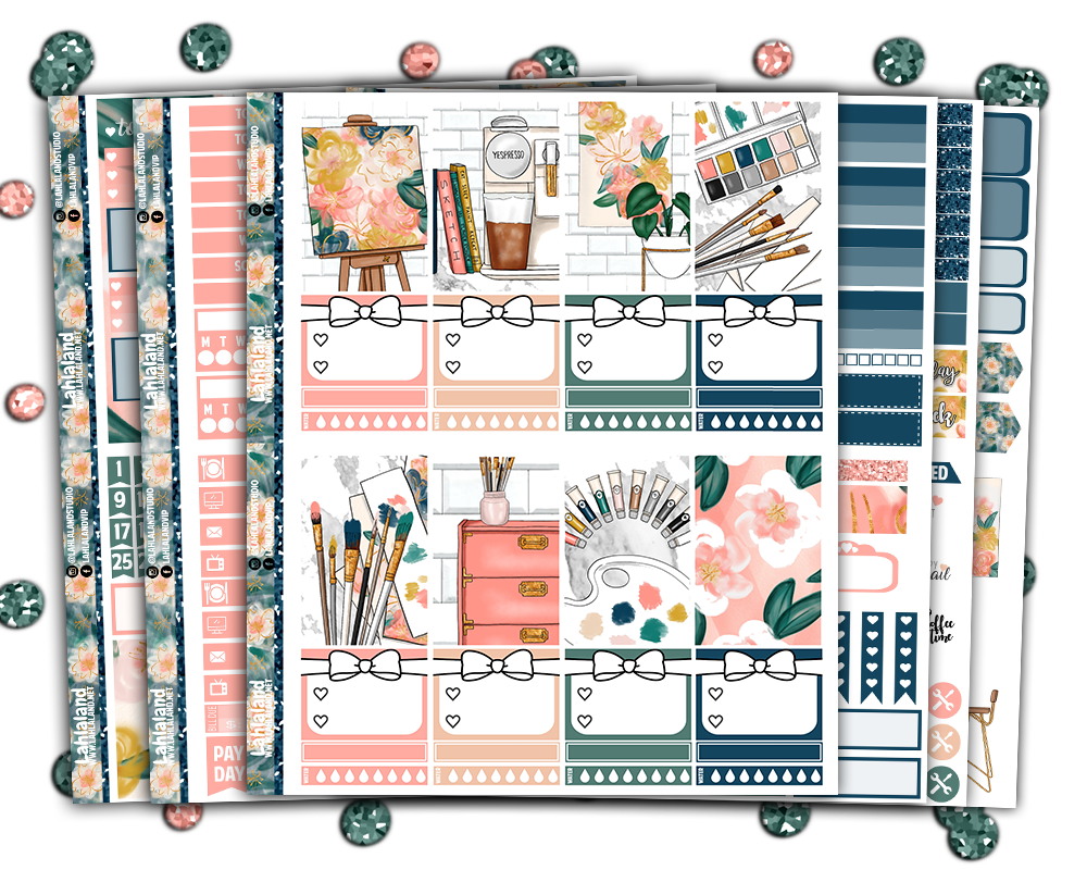Classic Happy Planner - Blooming Artist Weekly Kit