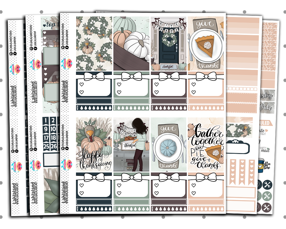 Classic Happy Planner - Give Thanks Weekly Kit