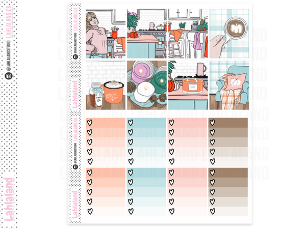 Erin Condren - Pumpkin Spice Everything Weekly Kit