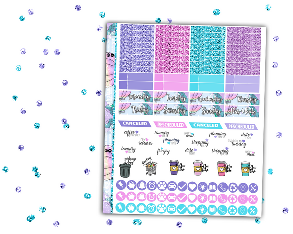 Erin Condren - Mermazing Weekly Kit