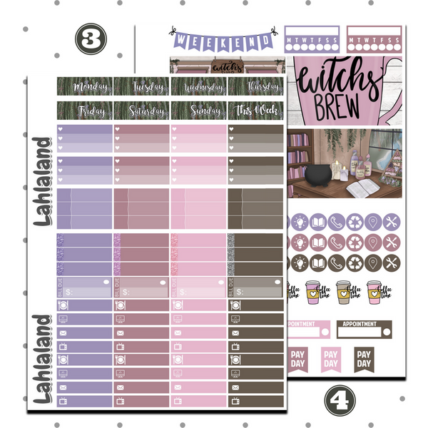 Erin Condren - Witches Brew Weekly Kit