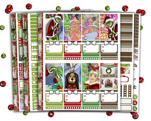 Classic Happy Planner - You're A Mean One Weekly Kit + BONUS Christmas Countdown and Deco!