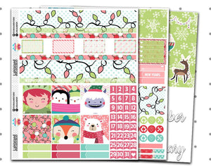Classic Happy Planner - Holly Jolly Monthly Kit