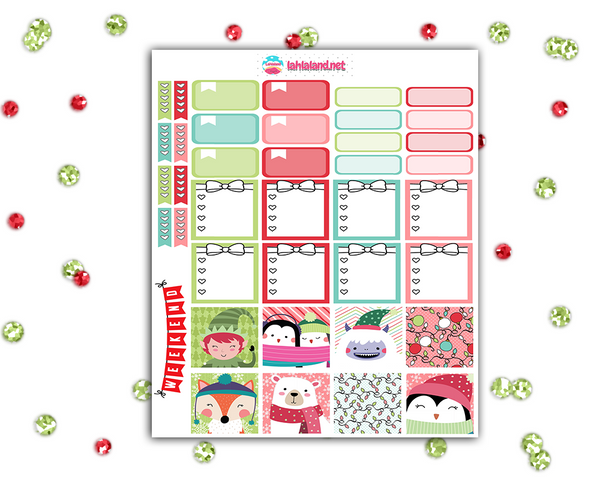 Mini Happy Planner - Holly Jolly Weekly