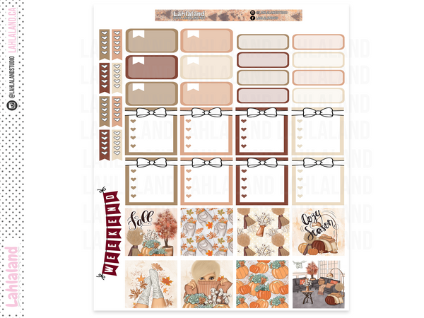 Mini Happy Planner - Cozy Season Weekly Kit