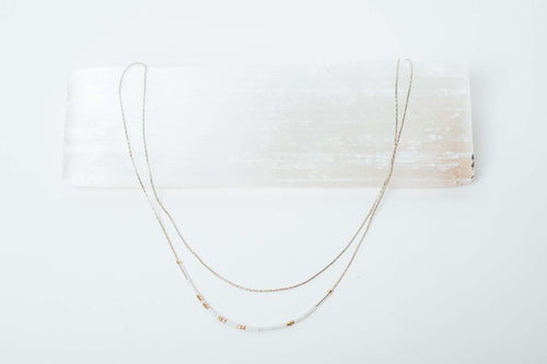 Double Chain Morse Code Necklace