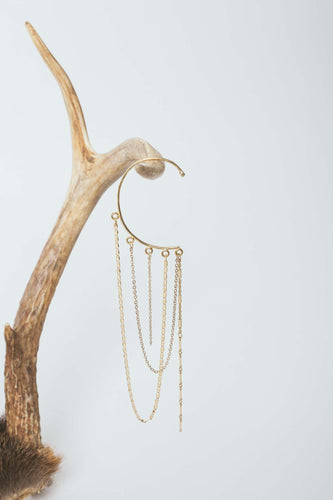 Draped in Gold Ear Cuff
