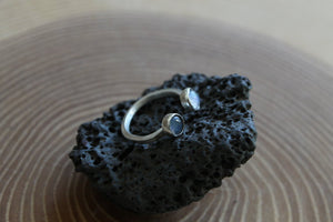 Star Crossed Open Ring