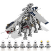 Lepin 05053 Star Plan the Republic Drop-ship with AT-OT Walker Model Building Blocks 1788Pcs