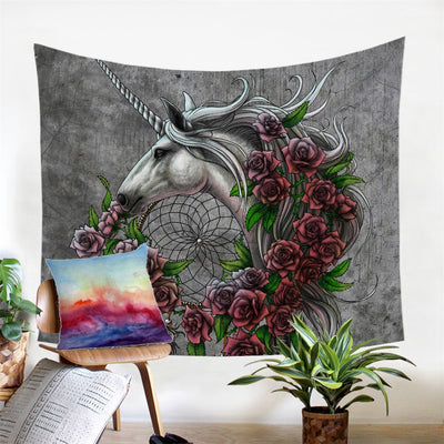 Unicorn Dreamcatcher Wall Hanging Decorative Tapestry