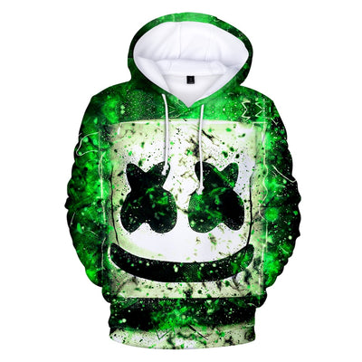 Marshmello Head 3D Hooded Sweatshirt