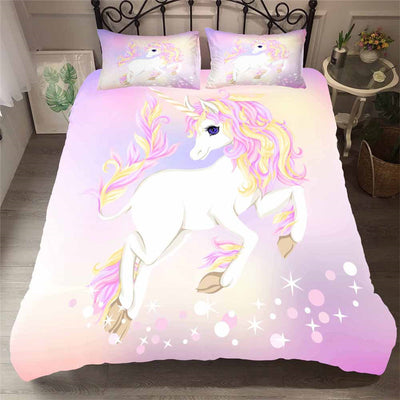 Fairy Unicorn Duvet Cover and Pillow Case Bedding Set