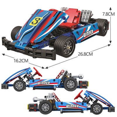 1:8 Kart Racing Model Building Blocks 371pcs