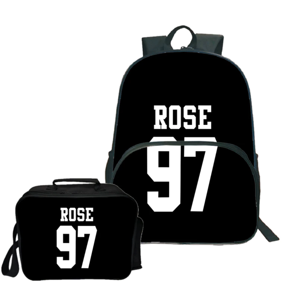 Blackpink Rose 97 Backpack and Lunch Bag Set