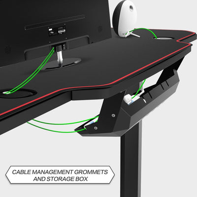 T-Shaped Ergonomic Gaming Desk