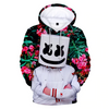 Dj Marshmello Tropical Floral Background 3D Hooded Sweatshirt