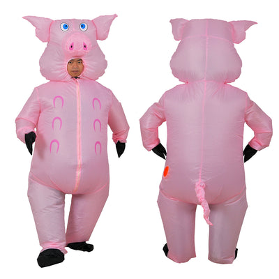 Big Bellied Pig Inflatable Costume for Adults