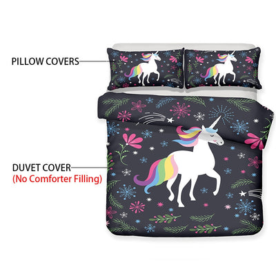 Twinkle Unicorn Duvet Cover and Pillow Case Bedding Set