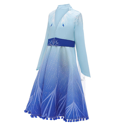 Christmas Frozen 2 Elsa Costume Dress for Kids
