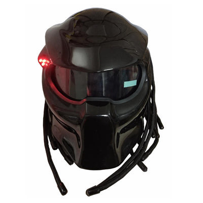 Black Predator Full Face Motorcycle Helmet