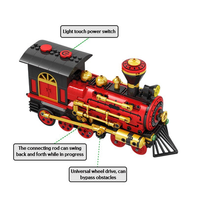 Electric Classical Train Model Building Blocks 372 pcs