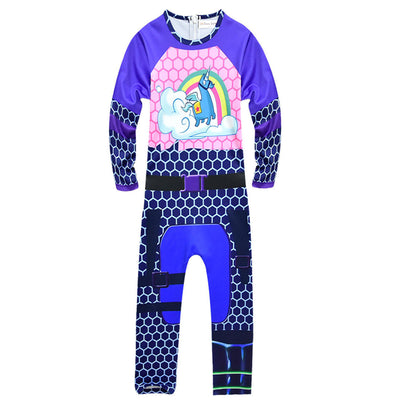 Brite Bomber Rainbow Horse Costume for Kids