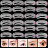 24 Pcs Pro Reusable Eyebrow Stencil Head Strap