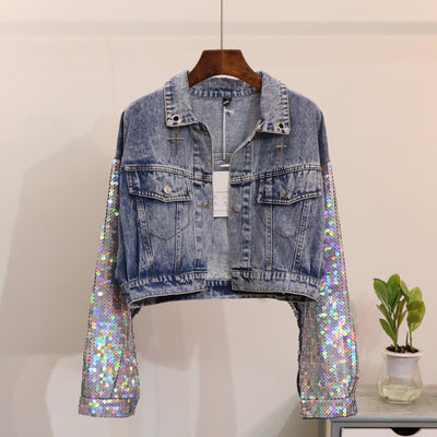 Unicorn Sequin Denim Jacket