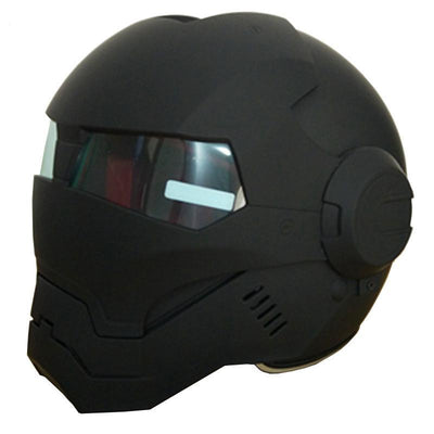 Iron Man Full Face Motorcycle Helmet, Matte Black