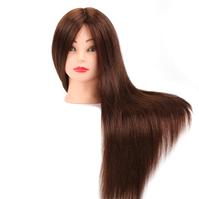 "24"" 50% Real Animal Hair  Mannequin Head"