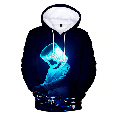 Dj Marshmello Under the Blue Light 3D Hooded Sweatshirt