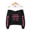 Blackpink Rose Lisa Jisoo Jennie Signature Off Shoulder Hooded Sweatshirt