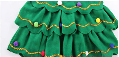 Christmas Tree Costume Dress for Girls