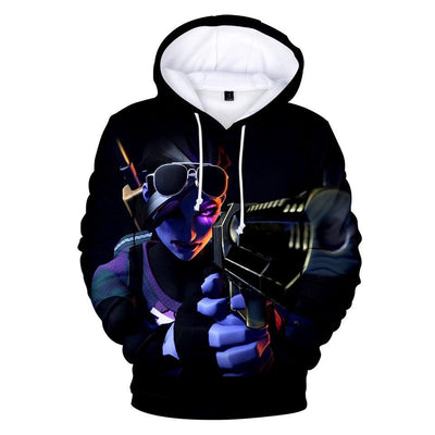 Dark Bomber Skin 3D Hooded Sweatshirt