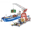 City Series Super Cargo Port Terminal Model Building Blocks 695pcs