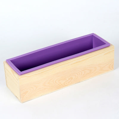 Silicone Render Swirl Soap Mold Wood Box Set with Transparent Vertical Acrylic Clapboard