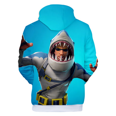 Chomp Sr Shark Skin 3D Hooded Sweatshirt