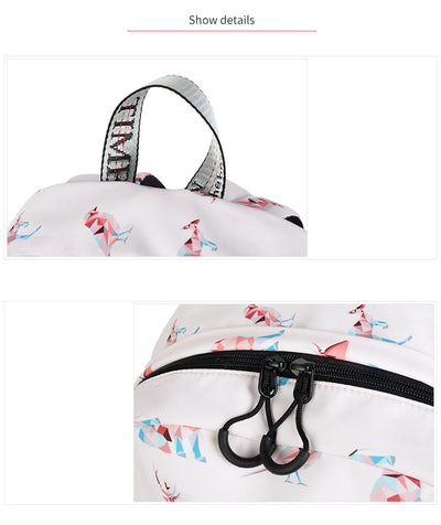 "Waterproof Geometric Animals Backpack 14"" 15"" Laptop Compartment"