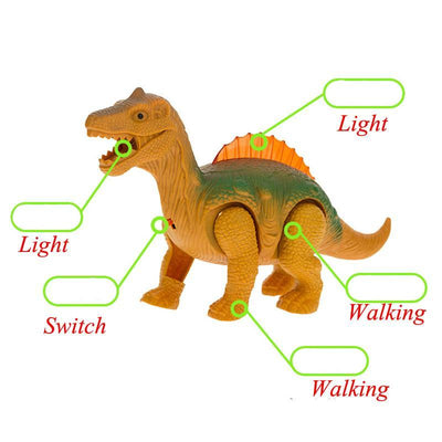 Electric Walking Dinosaur Toy with Light and Sound