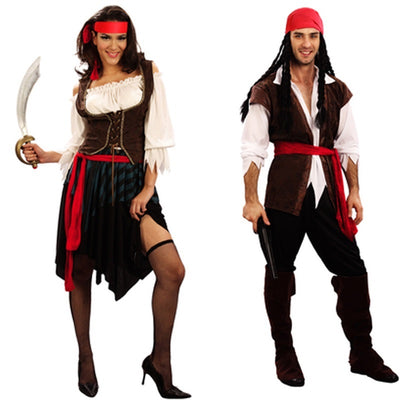 Captain Jack Sparrow Pirates of the Carribbean Couples Costumes
