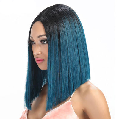 "14"" Straight Synthetic Hair Wig (8 Colors)"