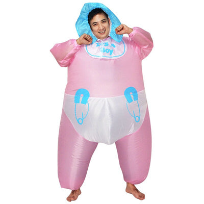 It's Baby Boy Inflatable Costume for Adults