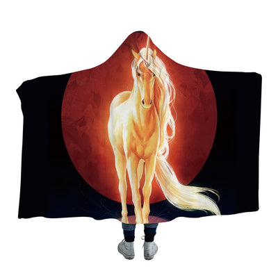 Last Unicorn Hooded Blanket for Adults and Kids
