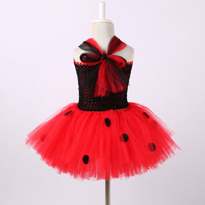 Ladybug Princess Tutu Dress for Girls (1-14Y)