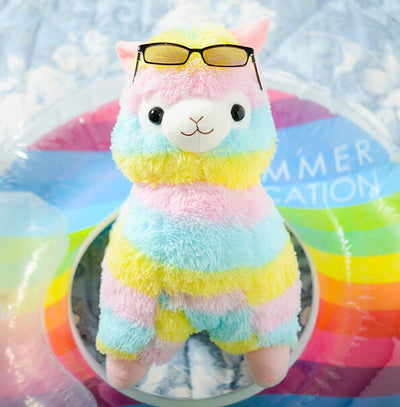 17cm Rainbow Alpaca Plush Toy