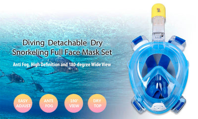 Full Face Snorkeling Mask with Camera Mount