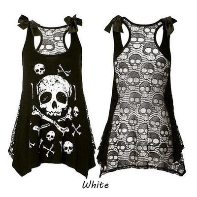 Plus Size Skull Tank Top