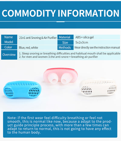 2 in 1 Anti-Snoring and Air Purifier