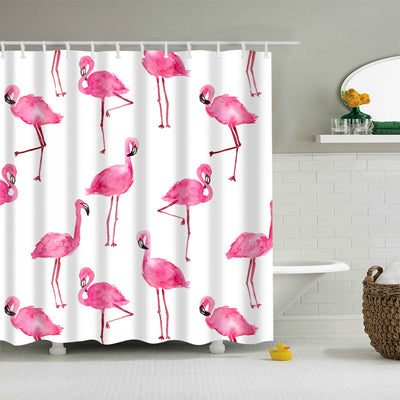 Flamingo & Friends Collection Shower Curtain