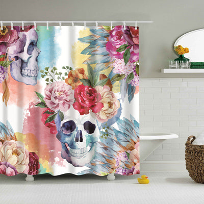 Skull Collection Shower Curtain
